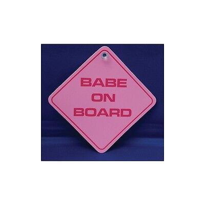Babe On Board  Diamond shaped Car Window Hanger - Graphics & Pinstripes