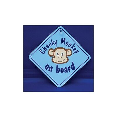 Cheeky Monkey Blue Diamond shaped Car Window Hanger - Graphics & Pinstripes