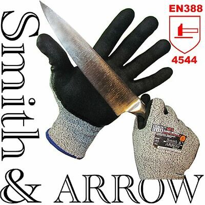 CUT RESISTANT LEVEL 5 SAFETY WORK GLOVES KITCHEN METAL PROOF ANTI NITRILE x 1