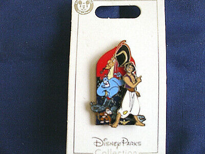 Disney * ALADDIN JAFAR GENIE ABU * New On Card Trading Pin