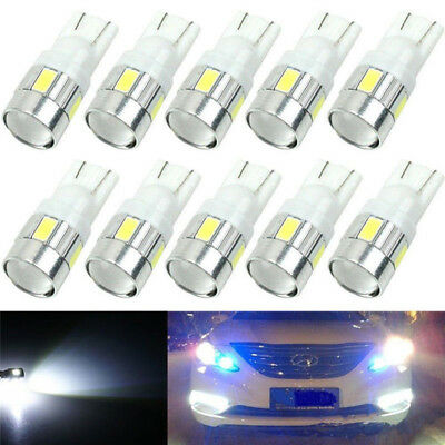 T10 Car Side Wedge Light Bulb White Xenon Light 6 SMD LED Bright Practical Bax