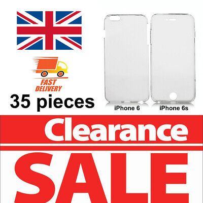 35pcs 360° Silicone Phone Case Cover Front+Back (£0.21/piece) iPhone 6 6s