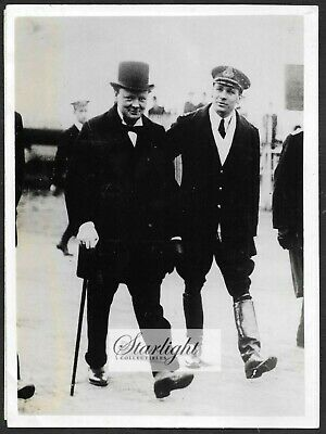 ~ Winston Churchill as First Lord of the Admiralty ORIGINAL 1965 Press Photo