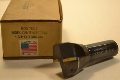 "New AMERICAN SUN USA 760-7 Indexable 1-3/4"" Center Cutting End Mill 1"" Shank"