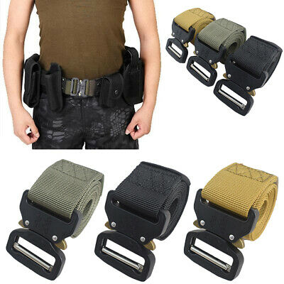 Outdoor Army Military Tactical Camo Belt~Mens Safety Nylon Male Combat Waistband