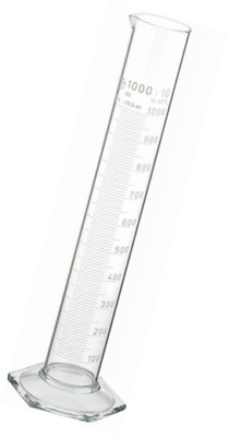 Neolab Electric 1269 Measuring Cylinder 1000 ml, Tall Shape, Hex Foot High Grade