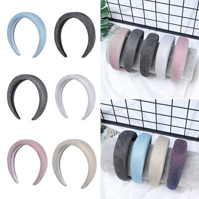 Wide Women Girls Head Wrap Sponge  Hairbands Velvet Hair Hoop Hair Accessories