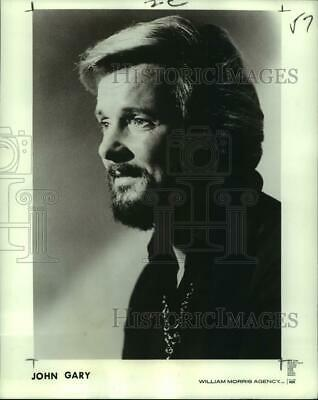 1972 Press Photo John Gary, American singer, to perform at Summer Pops