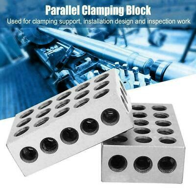 "2Pcs Matched Pair Ultra Precision 2x4x6 Blocks 23 Holes 0.0003"" Machinist Tool"