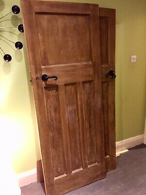 Reclaimed, reduced 1930s 1 over 3 panel stripped pine doors (thick 45mm)