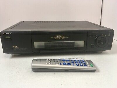Sony SLV-975HF VHS 4 Head Vintage VCR Player Recorder Flying Erase with Remote