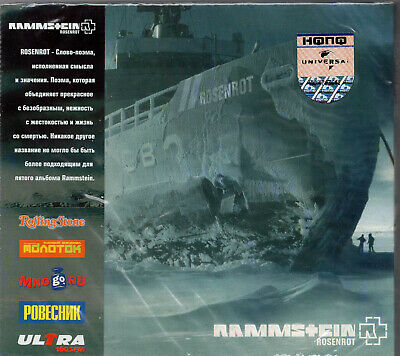 Rammstein ‎– Rosenrot CD RUSSIAN EDITION WITH OBI RARE! SEALED!