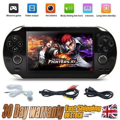 """New 5.0"""" 128 Bit Handheld Video Game Built-In 1000 Games Portable Console Player"""