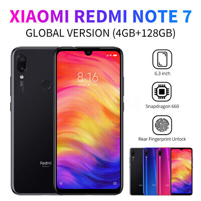Xiaomi Redmi Note 7 4GB + 128GB Smartphone 6.3'' 4G 2 SIM 4000mAh Global Version
