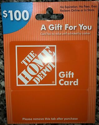 $100 Home Depot Gift Card