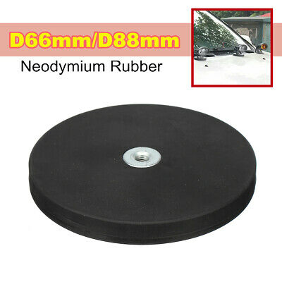 Flat Thread Neodymium Rubber Coated Pot Magnet D66/D88mm LED Light Camera Mount