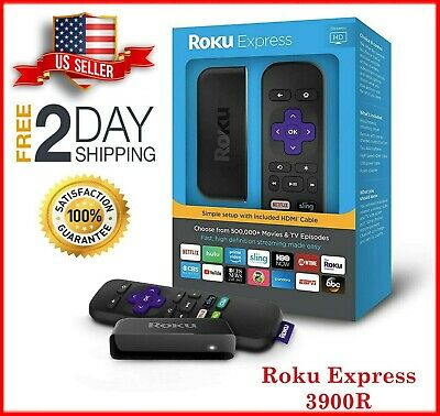 NEW Roku Express Streaming Media Player 1080p HD HDMI Easy High Definition