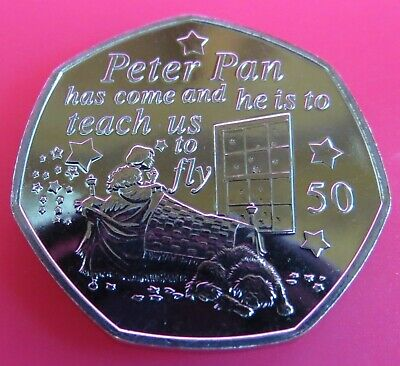 2019 Peter Pan 50P Wendy 90Th Anniversary New Release Uncirculated