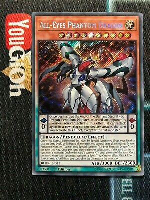 YuGiOh All-Eyes Phantom Dragon Secret Rare BLHR-EN043