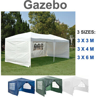 New 3Mx3M Party Tent Outdoor PE Garden Gazebo Marquee Canopy Awning