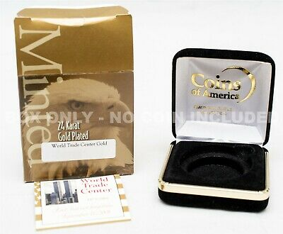 Case For 2001 World Trade Center 24 kt Gold-Plated Silver Eagle $1 - No Coin