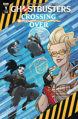 GHOSTBUSTERS CROSSING OVER #1, COVER B, New, First Print, IDW (2018)