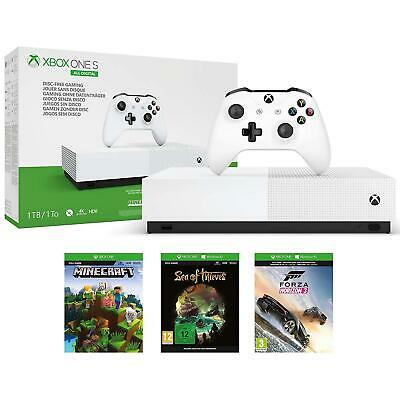 Microsoft Xbox One S All Digital Edition Game Console With 3 Games Bundle