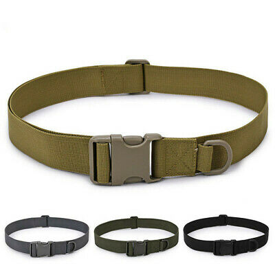 UK Army Heavy Duty Military Combat Tactical Belt Quick Release Waistband Outdoor