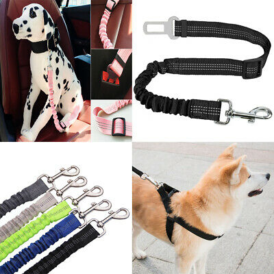 Pets Anti Shock Dog/Pet Seat Belt Lead Clip Car/Travel Safety Harness Uk Stock G