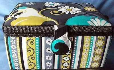 Abstract Floral Design  Sewing/Storage Basket