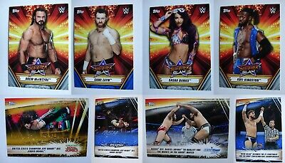 2019 Topps WWE Summerslam Blue Silver Parallel Wrestling Cards SP Pick From List