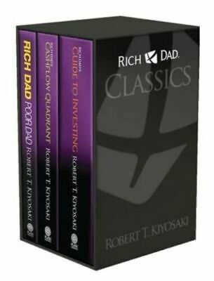 Rich Dad Poor Dad Classics 3 Books Boxed Set Collection by Robert T. Kiyosaki.