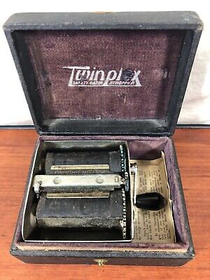 Vintage Twinplex Safety Razor Stropper Blade Sharpener In The Old Original Box