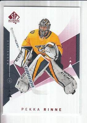 18/19 Ud Sp Authentic Pekka Rinne Red Base Parallel #39