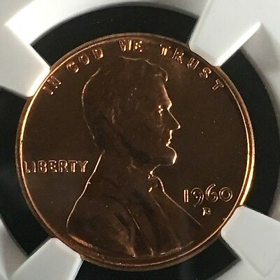 1960-D 1C RD Large Date Lincoln Memorial One Cent NGC MS67+RD       4293565-002c