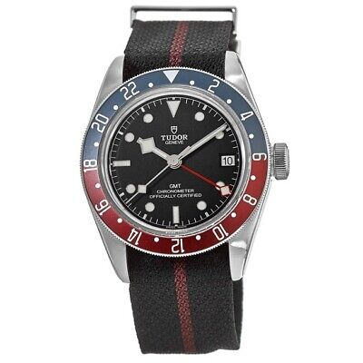 New Tudor Black Bay GMT Black Dial Black Fabric Men's Watch M79830RB-0003