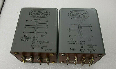 Nice Matched Pair of ADC A14421 Transformers Output Bridging 20K to 600/150 ohms