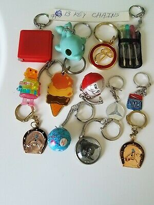 Vintage Gumball/Vending/Dime Store Keychains Lot Of 13