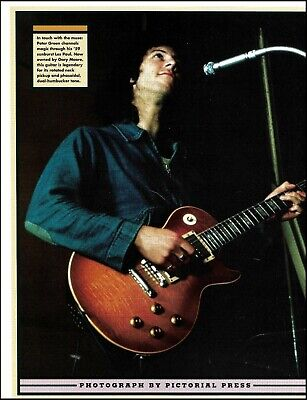 Fleetwood Mac Peter Green with his 1959 Gibson Les Paul guitar pin-up photo