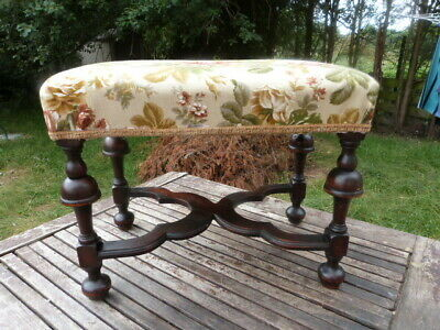 Lovely Antique Victorian Upholstered Footstool.