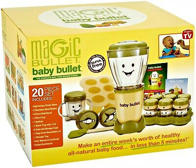 New Baby Bullet Baby Food Maker, 20-Piece Set