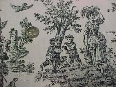Decorator Fabric Sew Material Black Toile Waverly Rustic Life Victorian Look