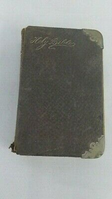 Antique Holy Bible Pocket Book Dated 1889 Printed University
