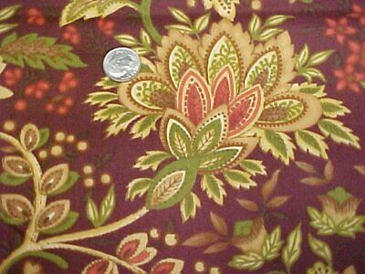 Cotton Fabric Quilt Red Rooster Victorian Style Print Sew Craft Material Estate