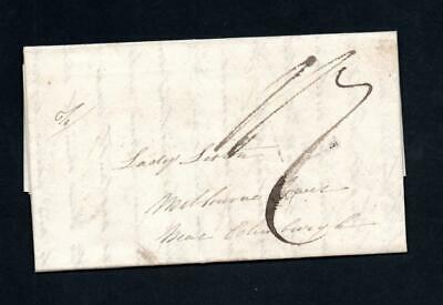 1823 Stampless Entire 'Liverpool Ship Letter'