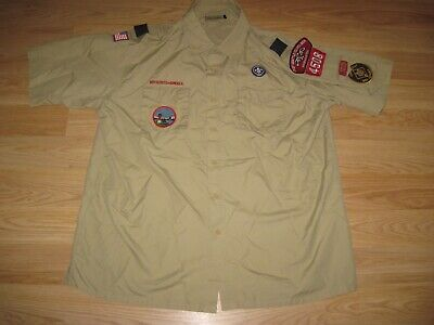 Official Men's XL Boy Scouts Of America Seattle Washington Uniform Shirt/Free SH