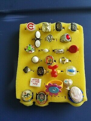Vintage Gumball/Vending/Dime Store Rings Lot Of 24