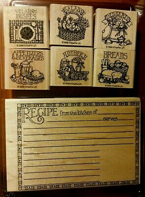 Stampin Up Recipe Fun Mounted Rubber Stamp Set