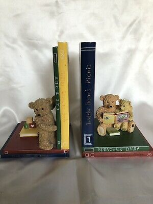 Marks Spencer Collection Hand Painted Vintage Bookends Bear B08