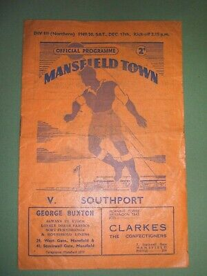 Mansfield  Town  V  Southport   17-12-1949.